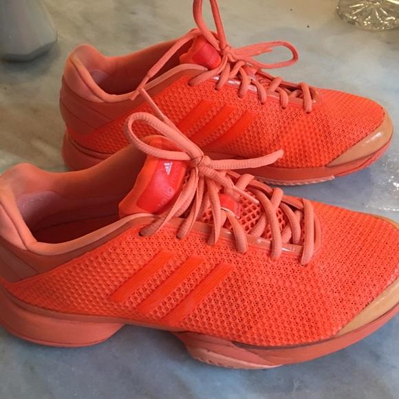 Stella McCartney Adidas Neon Orange Tennis 8.5